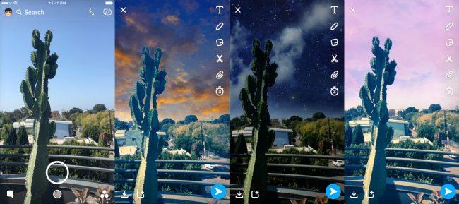 Nouveaux filtres Snapchat