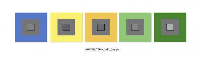 Huawei Y6 Pro balance des blancs