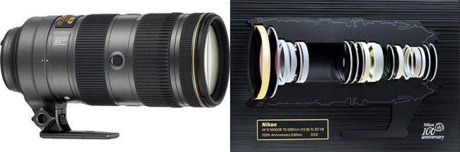 Coffret 100e anniversaire du Nikkor 70-200