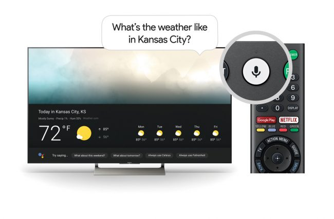 Android TV Sony Google Assistant