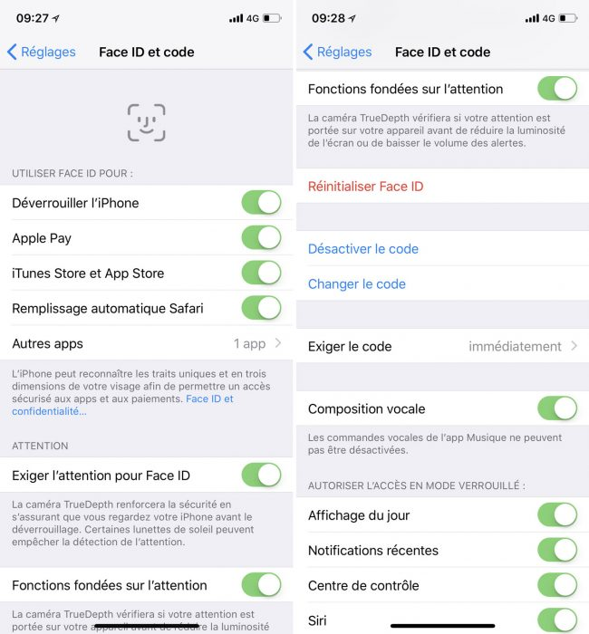 interface iPhone x