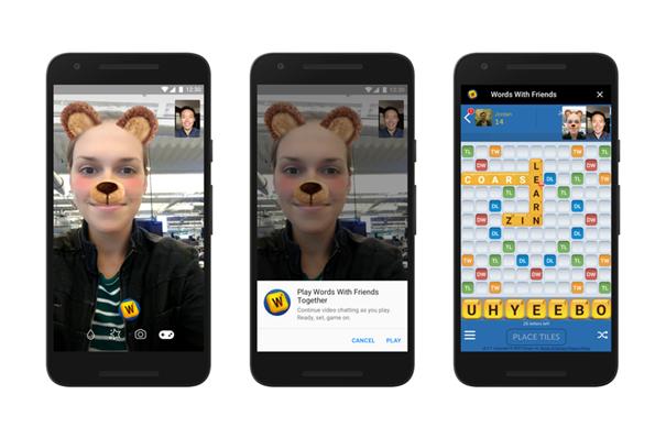 Chat vidéo avec Instant Games sur Messenger