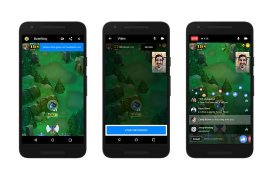 Live stream Instant Games sur Messenger