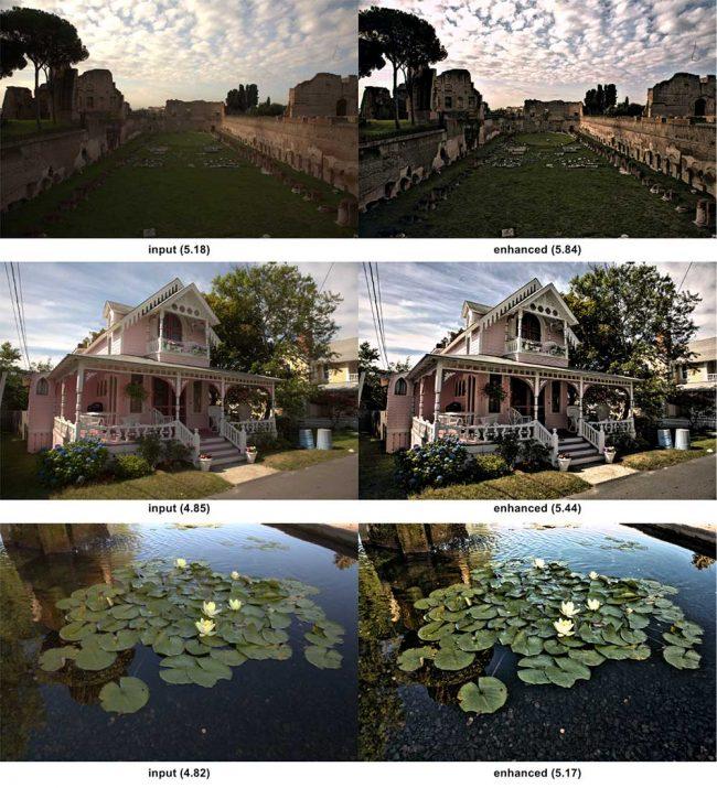 Ici, on voit le résultat des améliorations qu'est capable d'apporter NIMA. À gauche, la photo de base, à droite, le visuel amélioré.