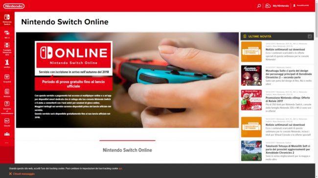 Nintendo Switch Online pour l'automne 2018