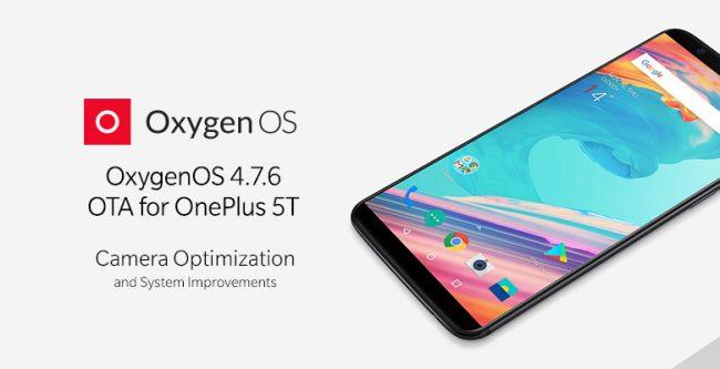 OxygenOS 4.7.6 pour OnePlus 5T