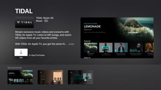 Tidal pour Apple TV