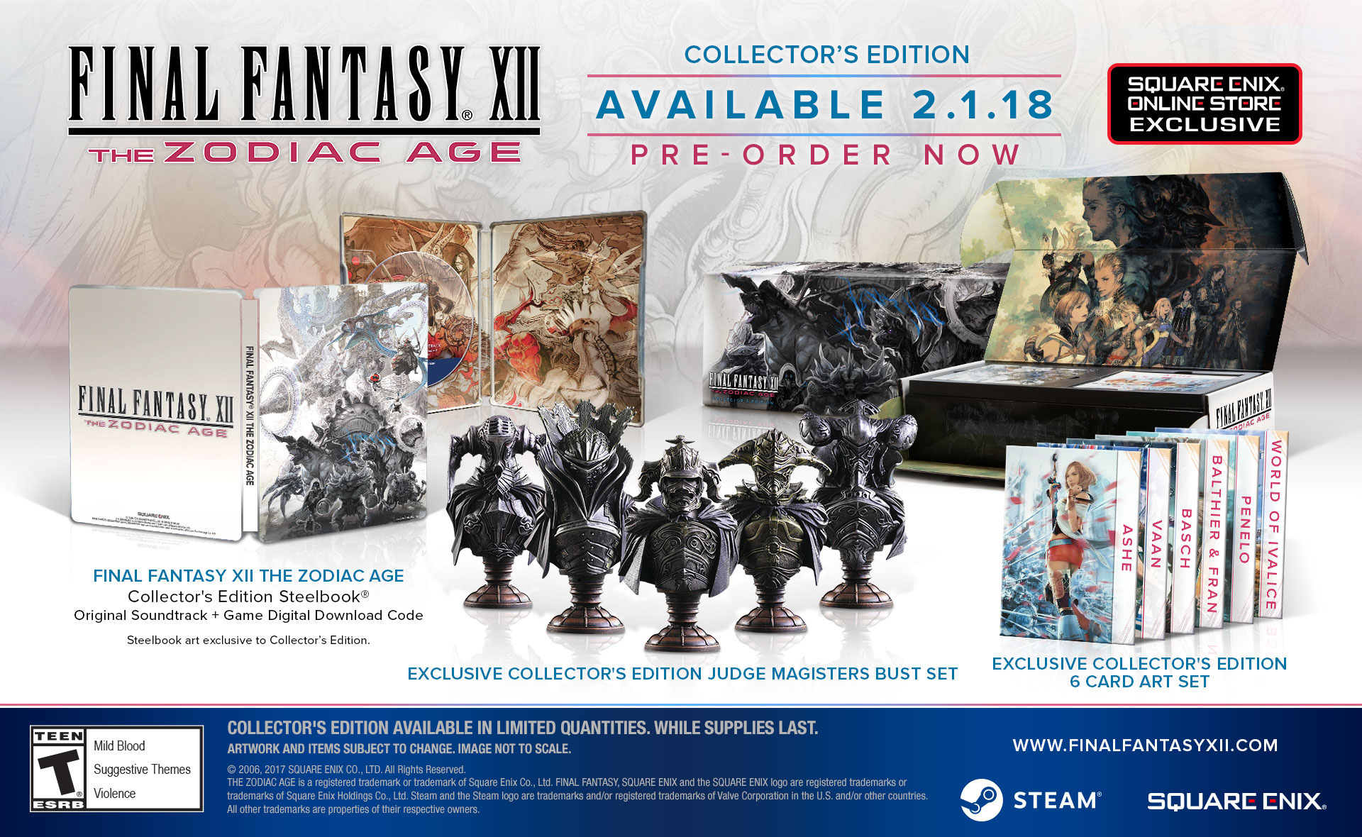 Final Fantasy XII : The Zodiac Age PC Steam édition collector