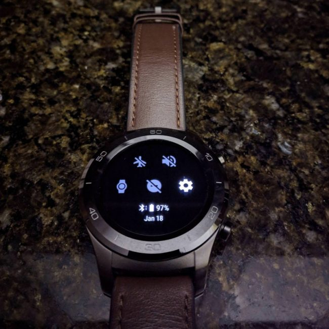 Montre sous Android Wear 2.8