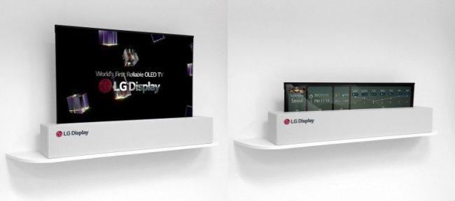 Le téléviseur enroulable de LG © LG