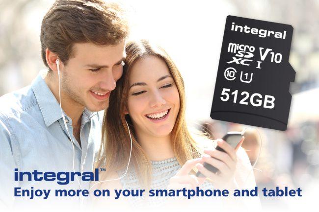 microSD 512 Go integral memory
