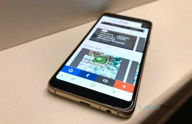 Prise en main du Samsung Galaxy A8 2018