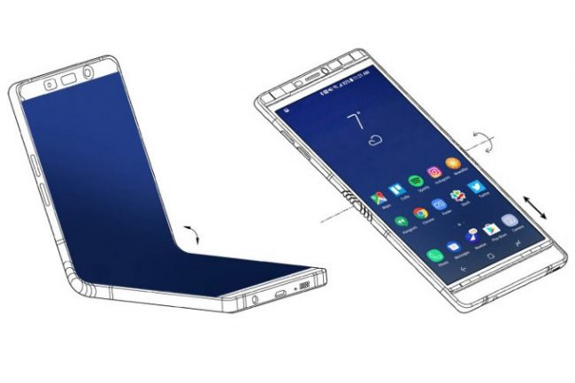 Brevet Samsung pour un smartphone à écran pliable