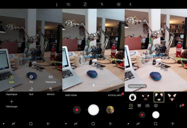 Samsung Galaxy A8 (2018) : application photo