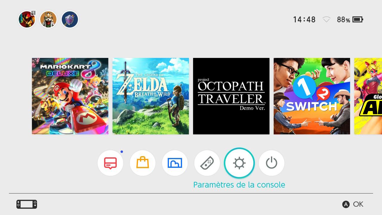 Nintendo Switch transfert de données 3