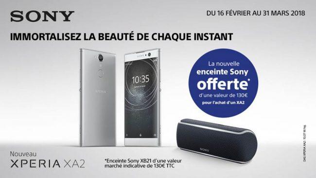 Offre de lancement Sony Xperia XA2