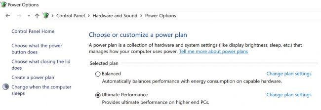 Windows 10 Ultimate Performance