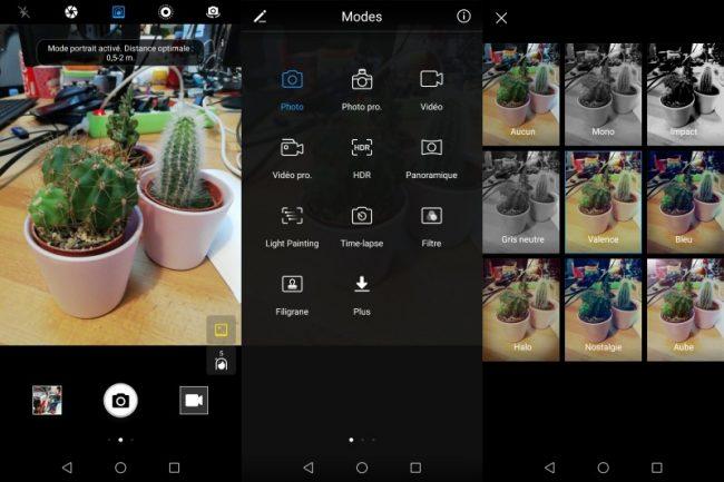 Huawei P Smart : interface logicielle