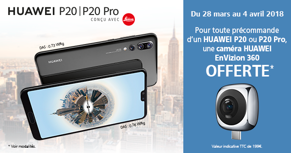 Offre de précommande pour Huawei P20 et P20 Pro