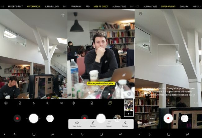 Samsung Galaxy S9+ : application photo