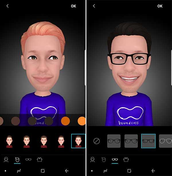AR Emojis Samsung Galaxy S9 et S9+