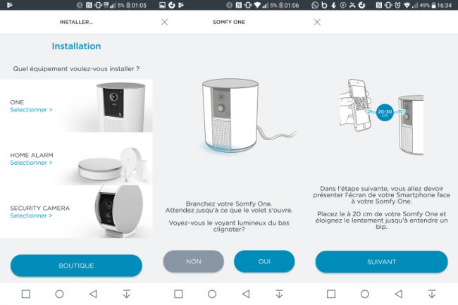 Application Somfy Protect