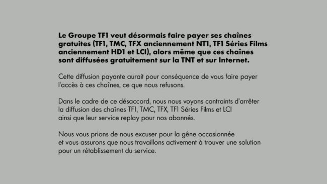 Conflit TF1 Canal+