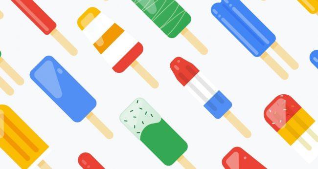 Google fond d'écran Popsicle
