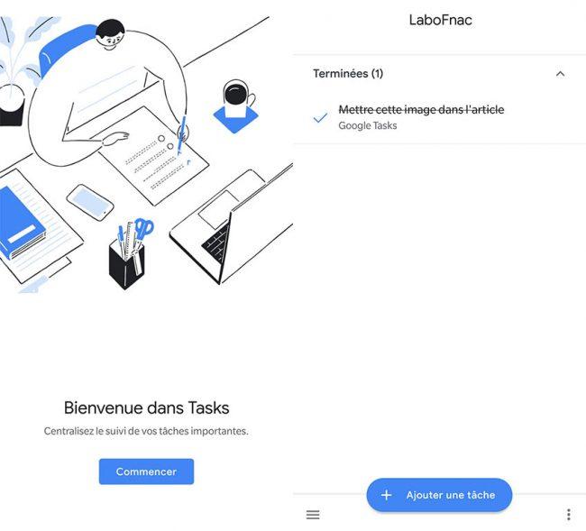 © Capture d'écran / Google Tasks