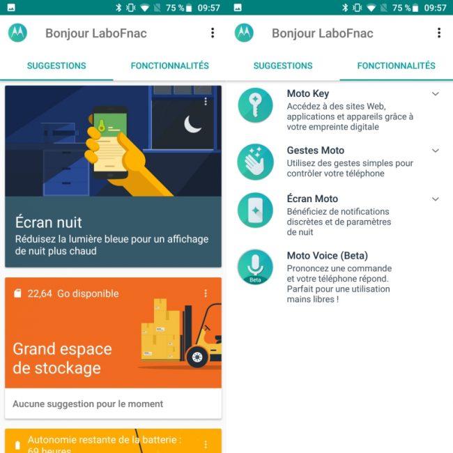 Android sur le Motorola Moto G6