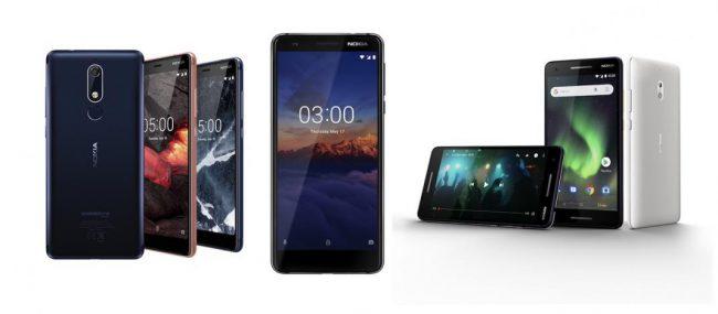 Nokia 2.1, Nokia 3.1 & Nokia 5.1