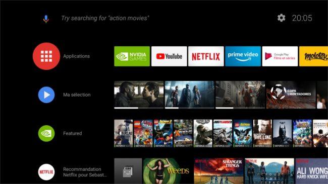 Experience Upgrade 7.0 pour Nvidia SHIELD TV