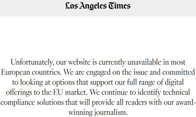 RGPD Los Angeles Times