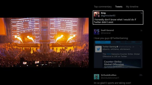 Twitter pour Xbox © Twitter
