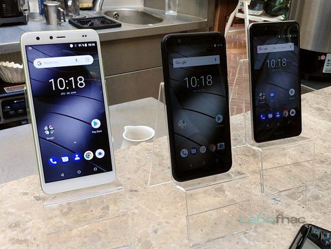 Gigaset GS100 (gauche), GS185 (milieu) et GS180 (droite) © LaboFnac