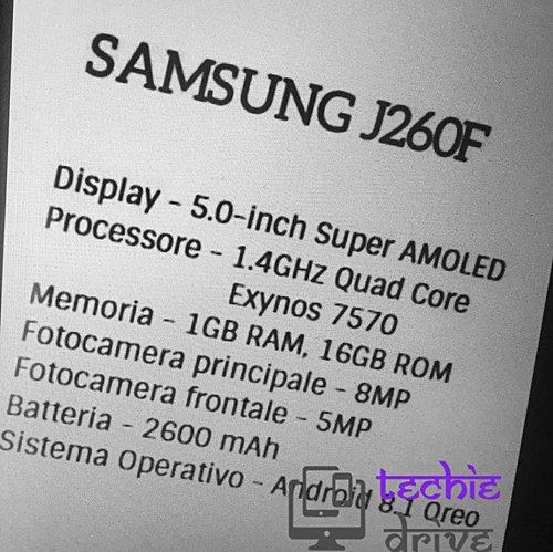 Caractéristiques du Samsung J260F
