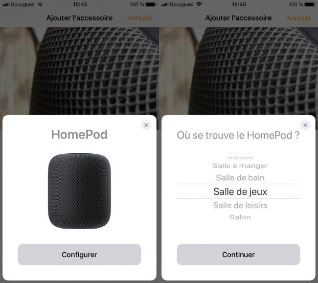 Apple HomePod : application