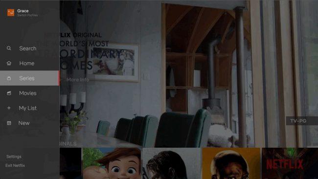 Nouvelle interface de Netflix pour les TV