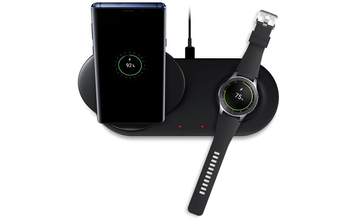 Chargeur sans fil Duo officiel Samsung Galaxy – Noir