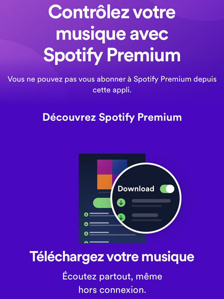 © Capture d'écran (Spotify/iOS)