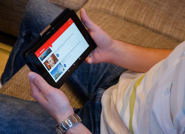 YouTube tablette