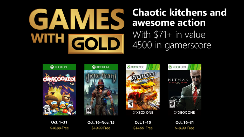 Games With Gold Xbox One Microsoft