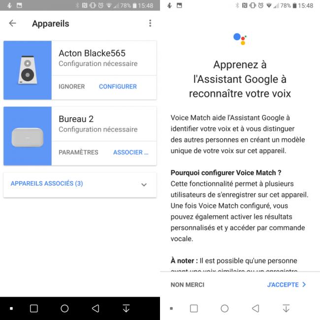 Application Google Home avec Google Home Max