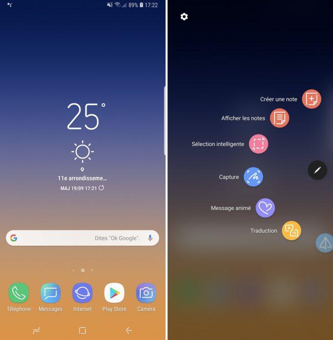 Interface Samsung Galaxy Note 9