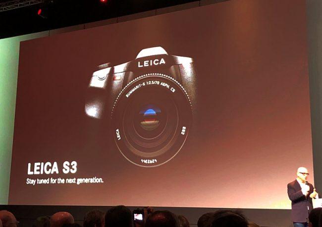 Leica S3 durant la présentation de la Photokina