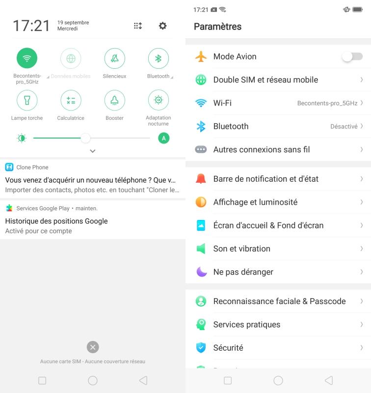 ColorOS 5.0 sur l'Oppo A3