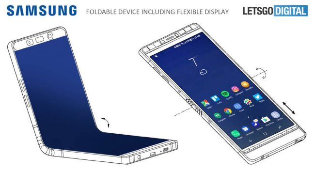 Samsung pliable Galaxy X