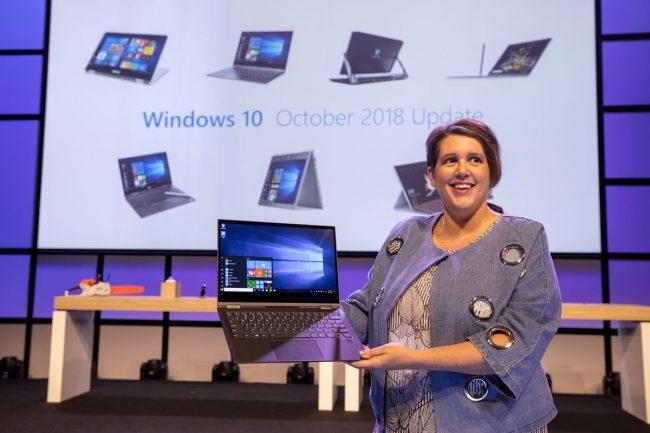 © Erin Chapple, vice-présidente de Microsoft, a évoqué la mise à jour «October 2018 Update» de Windows 10 lors de la conférence IFA 2018 à Berlin