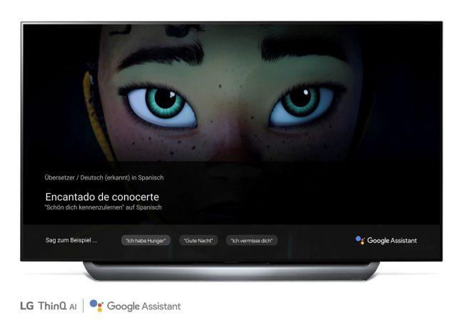 Google Traduction sur un téléviseur LG ThinQ © LG