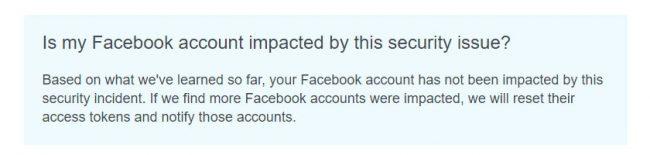 «Mon compte Facebook est-il affecté par ce problème de sécurité ?» © Capture d'écran (Facebook)